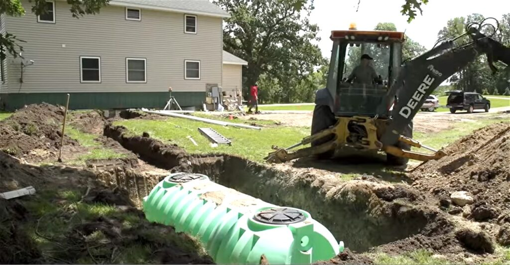 Image of Septic Tank Being Installed