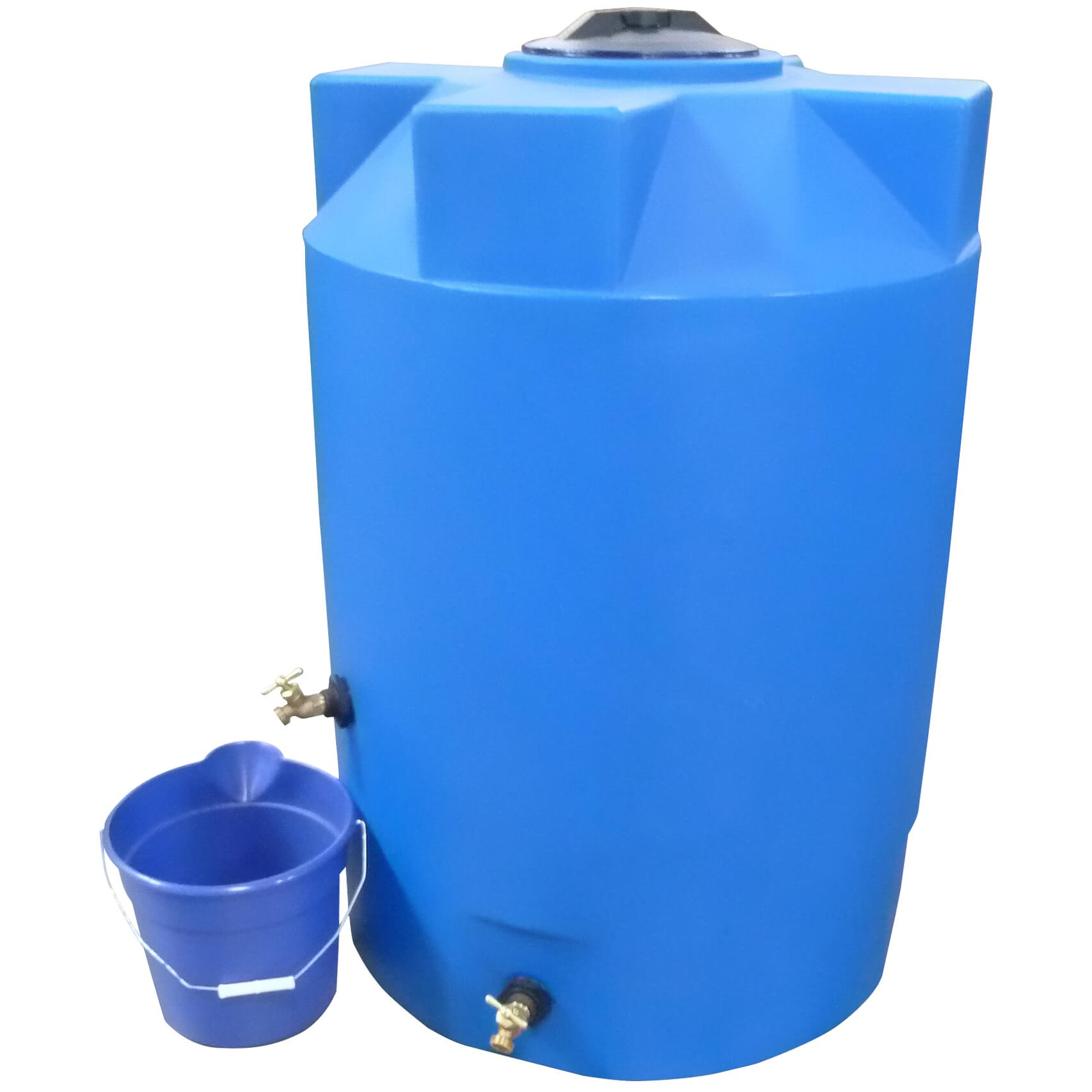 200 gallon blue emergency water tank poly mart pm200elb. Black Bedroom Furniture Sets. Home Design Ideas