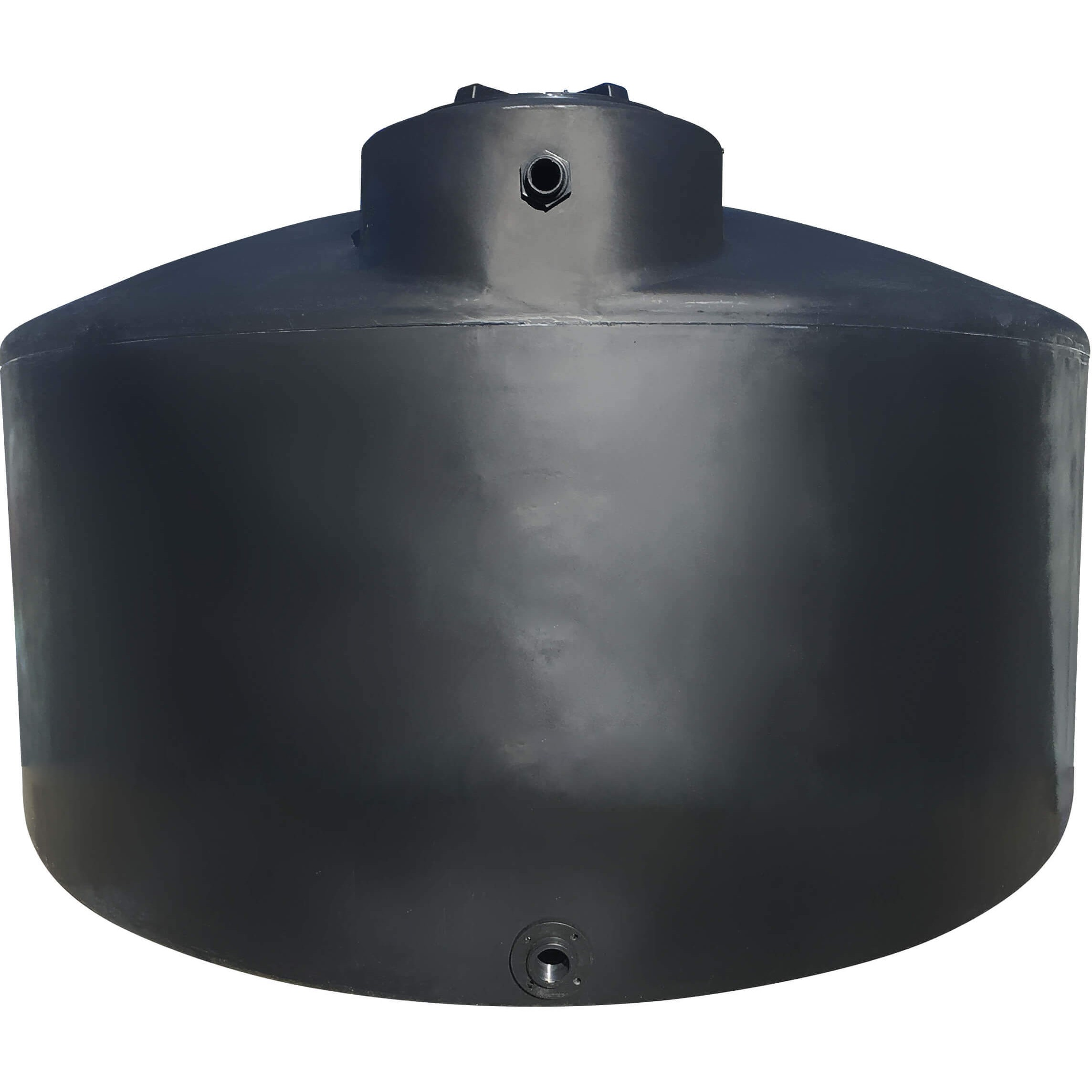 2500 Gallon Water Storage Tank Black Norwesco 42040
