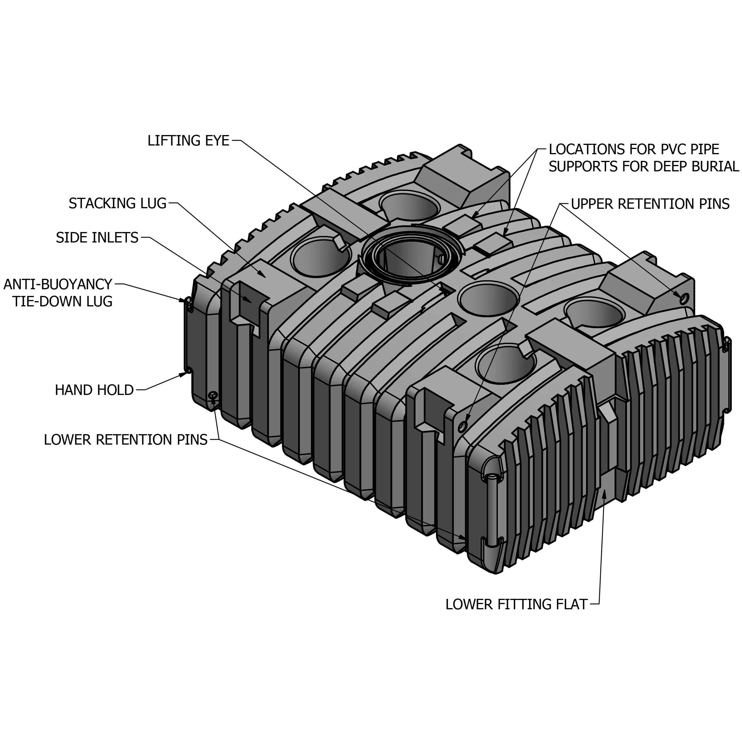 2000 Gallon Holding Tank Norwesco 44593