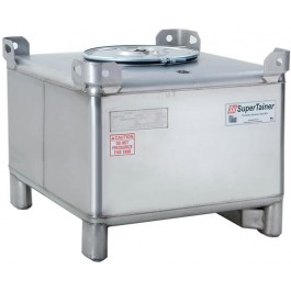 165 Gallon 304 Stainless Steel Supertainer IBC Tote Tank