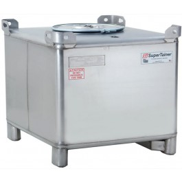 180 Gallon 304 Stainless Steel Supertainer IBC Tote Tank