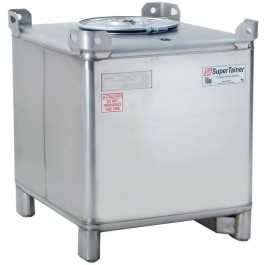 350 Gallon 304 Stainless Steel Supertainer IBC Tote Tank