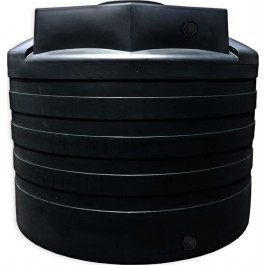 3100 Gallon Black Vertical Water Storage Tank