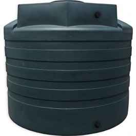 3100 Gallon Green Vertical Water Storage Tank