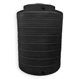 4050 Gallon Black Vertical Water Storage Tank