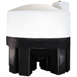 3000 Gallon Cone Bottom Tank with Poly Stand