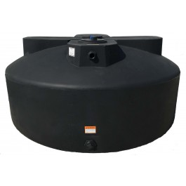 600 Gallon Black Vertical Water Storage Tank