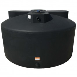 1075 Gallon Black Vertical Water Storage Tank