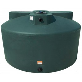 1075 Gallon Dark Green Vertical Water Storage Tank