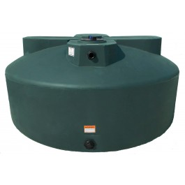 1525 Gallon Dark Green Vertical Water Storage Tank