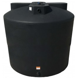 2550 Gallon Black Vertical Water Storage Tank