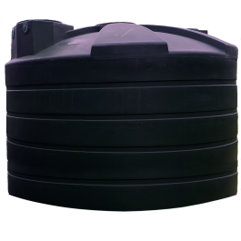 4995 Gallon Black Rainwater Collection Storage Tank
