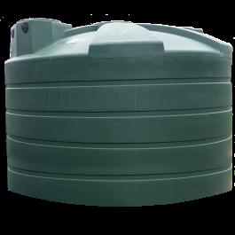 4995 Gallon Green Vertical Water Storage Tank