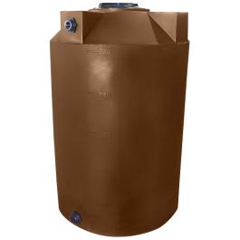 500 Gallon Dark Brown Rainwater Collection Tank