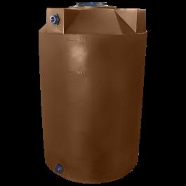 500 Gallon Dark Brown Vertical Water Storage Tank