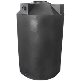 500 Gallon Dark Grey Vertical Water Storage Tank
