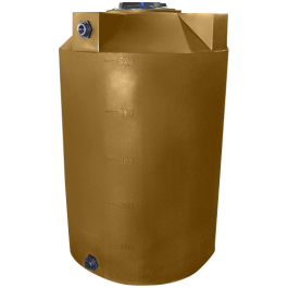 500 Gallon Mocha Vertical Water Storage Tank