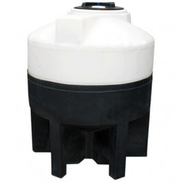 175 Gallon Cone Bottom Tank with Poly Stand