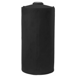 165 Gallon Black Vertical Water Storage Tank