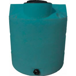 650 Gallon Dark Green Vertical Water Storage Tank