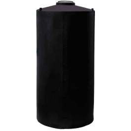 700 Gallon Black Vertical Water Storage Tank