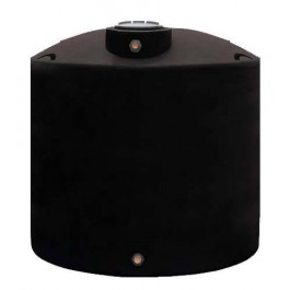 1550 Gallon Black Vertical Water Storage Tank