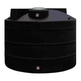 1650 Gallon Black Vertical Water Storage Tank