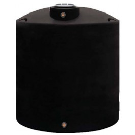 1700 Gallon Black Vertical Water Storage Tank