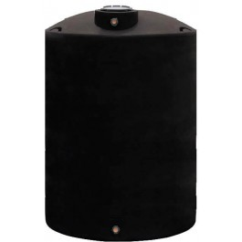 2200 Gallon Black Vertical Water Storage Tank