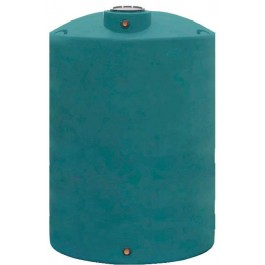 2200 Gallon Dark Green Vertical Water Storage Tank