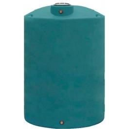2200 Gallon Dark Green Vertical Water Storage Tank