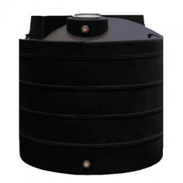 2500 Gallon Black Vertical Water Storage Tank