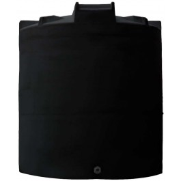 6500 Gallon Black Vertical Water Storage Tank