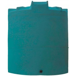 6500 Gallon Dark Green Vertical Water Storage Tank