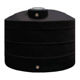 900 Gallon Black Vertical Water Storage Tank
