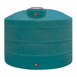1100 Gallon Dark Green Vertical Water Storage Tank
