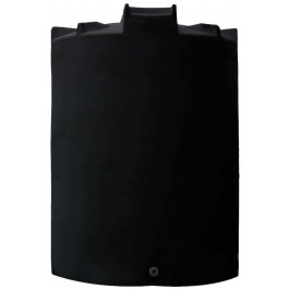 12500 Gallon Black Vertical Water Storage Tank