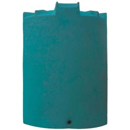 12500 Gallon Dark Green Vertical Water Storage Tank
