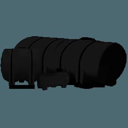 4250 Gallon Black Drainable Leg Tank