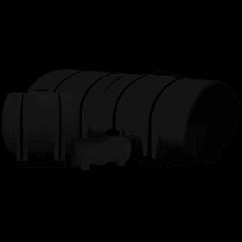2350 Gallon Black Drainable Leg Tank