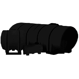 1300 Gallon Black Drainable Leg Tank