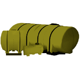 1300 Gallon Yellow Drainable Leg Tank