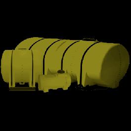 2600 Gallon Yellow Drainable Leg Tank