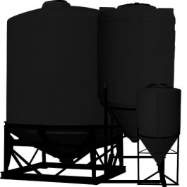 55 Gallon Black Inductor Cone Bottom Tank