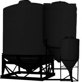 1300 Gallon Black Cone Bottom Tank
