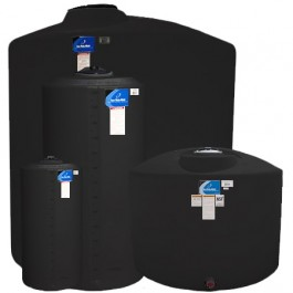 2150 Gallon Black Vertical Storage Tank