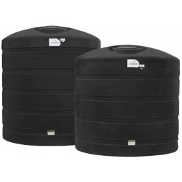 3400 Gallon Black Vertical Water Storage Tank