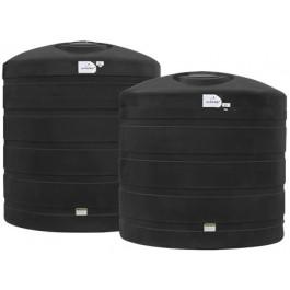 6250 Gallon Black Vertical Water Storage Tank