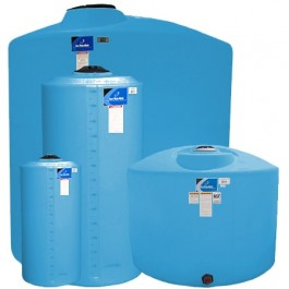 900 Gallon Light Blue Vertical Storage Tank
